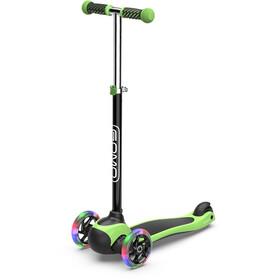 GOMO 3-Wheel Scooter Kinder schwarz/grün